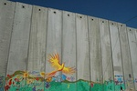 Mural on Israeli separation barrier