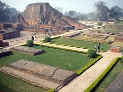 The Buddhist Nalanda university and monastery was a major center of learning in India from the 5th century CE to c. 1200.