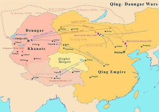 Galdan's campaigns against Qing dynasty