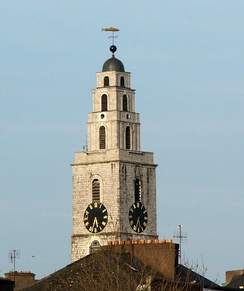 The clock tower of St Anne's church, containing the Bells of Shandon