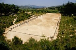 The stadion of ancient Nemea, Greece.