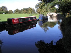 The Ripon Canal continues to be used by barges in the modern day