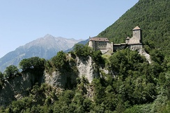 Tyrol Castle was the seat of the Counts of Tyrol and gave the region its name.