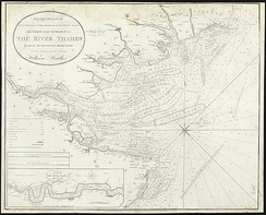 Naval chart of the estuary, 1801