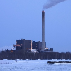 The Toppila Power Station, a peat-fired facility in Oulu, Finland