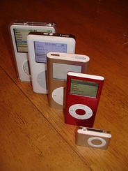 Various iPods, all of which have now been updated or discontinued