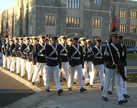 Virginia Tech Corps of Cadets marching