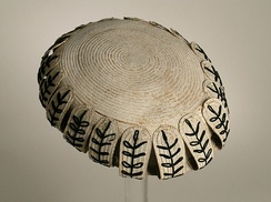 Woman's toque from England, c. 1860 at the collection of Los Angeles County Museum of Art