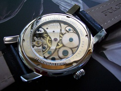 A Russian mechanical watch movement