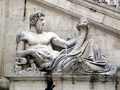 Roman representation of Tiber as a god, Capitoline Hill in Rome