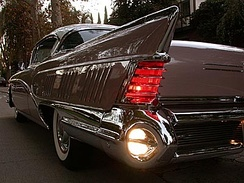 1958 Buick Limited, rear fin and taillight detail.