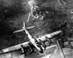 American 8th Air Force Boeing B-17 Flying Fortress bombing raid on the Focke-Wulf factory in Germany, 9 October 1943