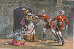 A daring seizure of King of Delhi by Capt Henry M Hodson of Hodson's Horse