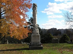 The monument of Admiral David Farragut in Woodlawn Cemetery in The Bronx, New York City.