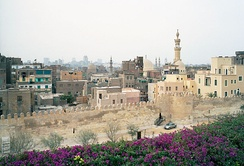 The Ayyubid wall in Cairo, uncovered during construction of Al-Azhar Park, January 2006