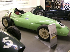 The BRP BRM P25 which Stirling Moss drove to second place in the 1959 British Grand Prix, BRP's best result.