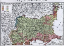 Ethnic composition map of the Balkans (1912)