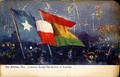 Carnival Flags—The Battle of Flowers, San Antonio (postcard, circa 1907-1911)