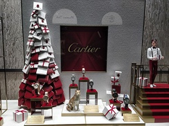 A window of the Cartier store in Helsinki, Finland