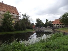 A medieval moat castle in Steinfurt, Germany