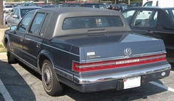 The 1990s Chrysler Imperial featured full-width taillights.