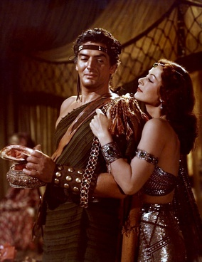 Edith Head's costume designs for Victor Mature and Hedy Lamarr in Samson and Delilah (1949), for which she won an Oscar.