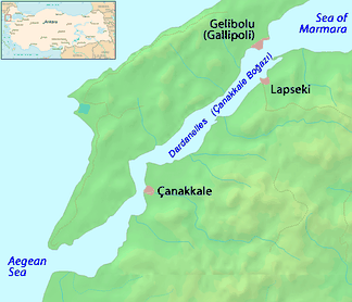Map of the Dardanelles
