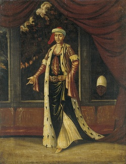 An Eighteenth Century painting of a Valide Sultan by Jean Baptiste Vanmour.