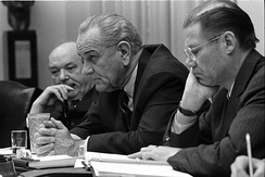 Cabinet meeting with Dean Rusk, President Johnson and McNamara, 9 February 1968