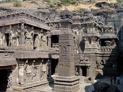 Kailasa temple, is one of the largest rock-cut ancient Hindu temples located in Ellora.
