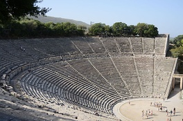 The Ancient Theatre of Epidaurus, still used for theatrical plays.