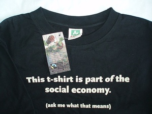 A T-shirt made from Fairtrade certified cotton