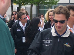 "Driver Felipe Giaffone wearing his ""Last Row Party"" jacket at the 2005 race."