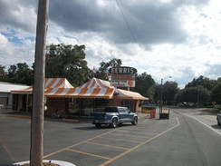 Ferris Groves Store in Floral City, one of many Old Florida style citrus stands found on the back roads of Central Florida.