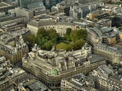 Finsbury Circus, the largest public open space, seen from Tower 42