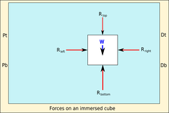 Forces on an immersed cube