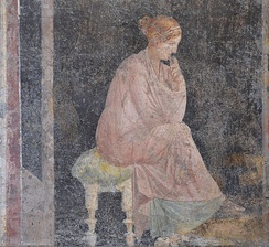 Fresco of a seated woman from Stabiae, 1st century AD