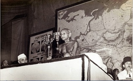 Gandhi at the Asian Relations Conference in 1947