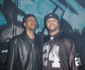 DJ Assault (right) with DJ Funk (left).