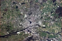 Hamburg, seen from the International Space Station