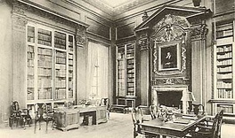 "The Memorial Rooms ""reflect an atmos­phere of realism"", wrote a visitor, ""[as if] Harry Widener still lived among his books."" [17]:91 The desk at left was Harry's own.[g]"