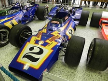 1970 Indianapolis 500 winning car (#2). The 1971 winning car (#1) is visible to the left.