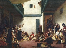 Dances at a Jewish wedding in Morocco, early 19th century