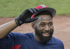 A three-RBI double by Jackie Bradley Jr. gave the Red Sox a 5–4 lead in Game 2.