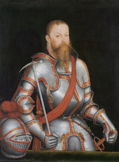 "Prince Elector Maurice of Saxony, the ""arch manipulator"" by Lucas Cranach the Younger"