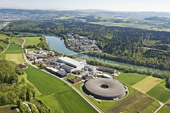 PSI is located on the right and left banks of the River Aare in Canton Aargau, Switzerland