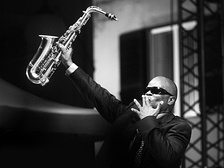 Maceo Parker at the Liri Blues Festival, Italy, in 2009