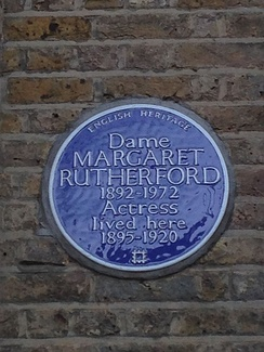 Margaret Rutherford honour plaque in London