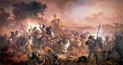 The Portuguese victory at the Second Battle of Guararapes, ended Dutch presence in Brazil.
