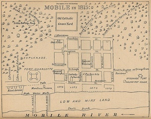 A map of Mobile in 1815.